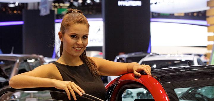 La place des femmes au Salon de l'auto.